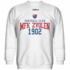 Bavlnená mikina bez kapucne MFK Lokomotíva Zvolen 0516 - biela