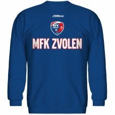 Bavlnená mikina bez kapucne MFK Lokomotíva Zvolen 0816 - royal modrá