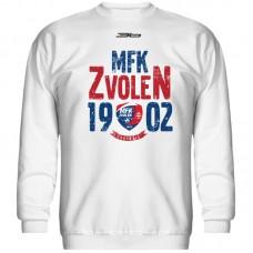 Bavlnená mikina bez kapucne MFK Lokomotíva Zvolen 0416 - biela