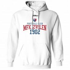 Bavlnená mikina s kapucňou MFK Lokomotíva Zvolen 0516 - biela