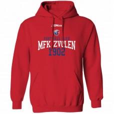 Bavlnená mikina s kapucňou MFK Lokomotíva Zvolen 0516 - červená