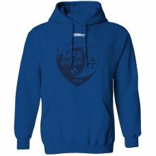 Bavlnená mikina s kapucňou MFK Lokomotíva Zvolen 0616 - royal modrá