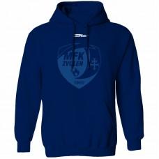 Bavlnená mikina s kapucňou MFK Lokomotíva Zvolen 0616 - modrá – tmavomodrá