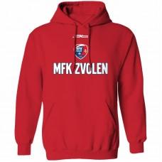 Bavlnená mikina s kapucňou MFK Lokomotíva Zvolen 0816 - červená
