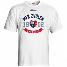 Bavlnené tričko MFK Lokomotíva Zvolen 0116 - biela