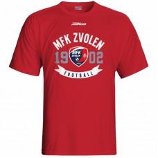 Bavlnené tričko MFK Lokomotíva Zvolen 0116 - červená