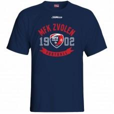 Bavlnené tričko MFK Lokomotíva Zvolen 0116 - modrá – tmavomodrá
