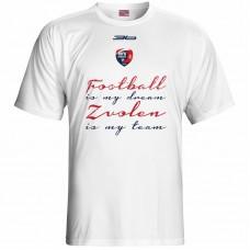 Bavlnené tričko MFK Lokomotíva Zvolen 0316 - biela