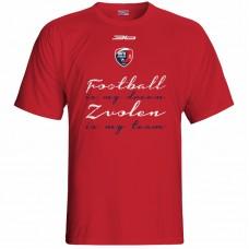 Bavlnené tričko MFK Lokomotíva Zvolen 0316 - červená