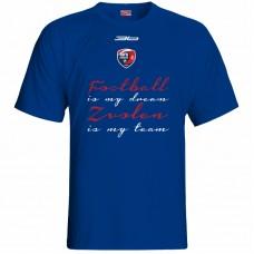 Bavlnené tričko MFK Lokomotíva Zvolen 0316 - royal modrá