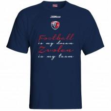 Bavlnené tričko MFK Lokomotíva Zvolen 0316 - modrá – tmavomodrá