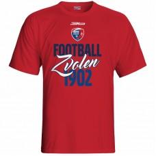 Bavlnené tričko MFK Lokomotíva Zvolen 0416 - červená