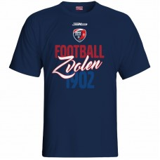 Bavlnené tričko MFK Lokomotíva Zvolen 0416 - modrá – tmavomodrá
