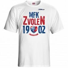 Bavlnené tričko MFK Lokomotíva Zvolen 0516 - biela
