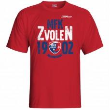 Bavlnené tričko MFK Lokomotíva Zvolen 0516 - červená