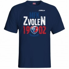 Bavlnené tričko MFK Lokomotíva Zvolen 0516 - modrá – tmavomodrá