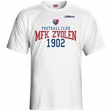 Bavlnené tričko MFK Lokomotíva Zvolen 0616 - biela