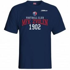 Bavlnené tričko MFK Lokomotíva Zvolen 0616 - modrá – tmavomodrá