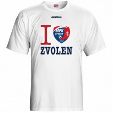 Bavlnené tričko MFK Lokomotíva Zvolen 0816 - biela