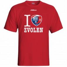 Bavlnené tričko MFK Lokomotíva Zvolen 0816 - červená