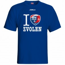 Bavlnené tričko MFK Lokomotíva Zvolen 0816 - royal modrá