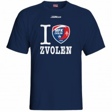 Bavlnené tričko MFK Lokomotíva Zvolen 0816 - modrá – tmavomodrá