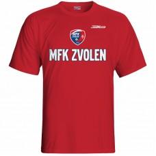 Bavlnené tričko MFK Lokomotíva Zvolen 0916 - červená