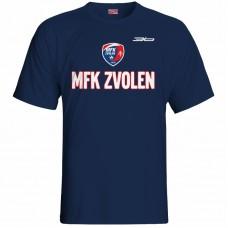 Bavlnené tričko MFK Lokomotíva Zvolen 0916 - modrá – tmavomodrá