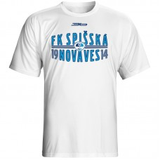 Bavlnené tričko FK Spišská Nová Ves vz.1 - biela