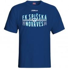 Bavlnené tričko FK Spišská Nová Ves vz.1 - modrá – tmavomodrá