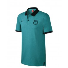 KIDS' FC BARCELONA POLO rio teal htr/black/black