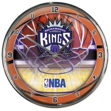 Sacramento Kings - Wall Chrome NBA Hodiny
