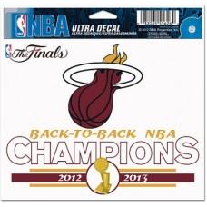 Miami Heat - 2013 Champion NBA Nálepka