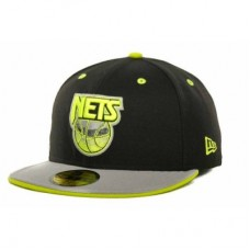 New Jersey Nets - Deez Neon 59 FIFTY LD NBA Čiapka