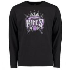 Sacramento Kings - Distressed NBA Tričko s dlhým rukávom