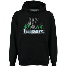 Minnesota Timberwolves - Distressed NBA Mikina s kapucňou
