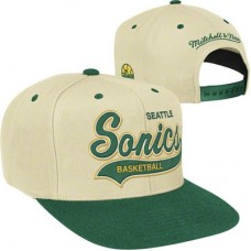 Seattle SuperSonics - Script Tailsweeper Fan NBA Čiapka