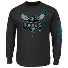 Charlotte Hornets - Up and Over NBA Tričko s dlhým rukávom
