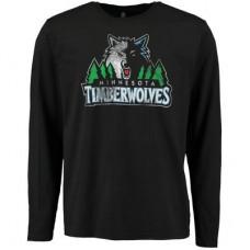 Minnesota Timberwolves - Distressed NBA Tričko s dlhým rukávom