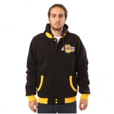 Los Angeles Lakers - JH Design Reversible Fleece NBA Obojstranná Bunda s kapucňou
