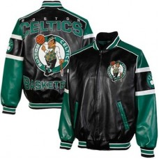 Boston Celtics - Post Game Full Zip Pleather FF NBA Bunda