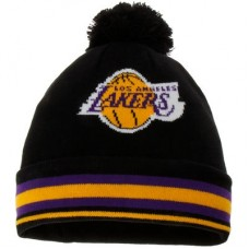 Los Angeles Lakers detská - Cuffed Knit Hat with Pom NBA Čiapka