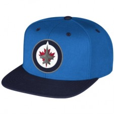 Winnipeg Jets - Face-Off Flat Brim Snapback NHL Čiapka