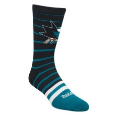 San Jose Sharks - Striped Crew NHL Ponožky