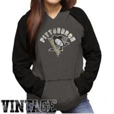Pittsburgh Penguins Dámska - Original Retro NHL Mikina s kapucňou