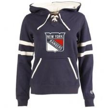 New York Rangers Dámska - Grant Lace-Up NHL Mikina s kapucňou