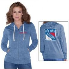 New York Rangers Dámska - Script Logo NHL Mikina s kapucňou