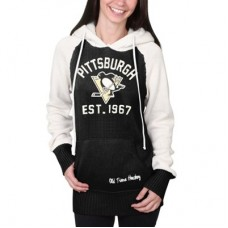 Pittsburgh Penguins Dámska - Old Time Hockey NHL Pulover s kapucňou