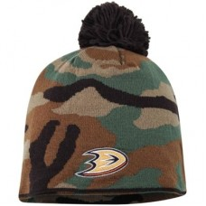 Anaheim Ducks - Camo Cuffless NHL Knit Čiapka