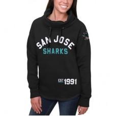 San Jose Sharks Dámska - Fleece Funnel Neck NHL Mikina s kapucňou